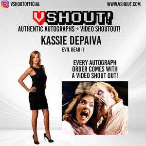 CLOSED Kassie DePaiva Official vShout! Autograph Pre-Order