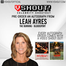 Load image into Gallery viewer, CLOSED Leah Ayres Official vShout! Autograph Pre-Order