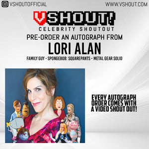 CLOSED Lori Alan Official Zobie vShout! Autograph Pre-Order