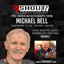 Load image into Gallery viewer, Closed Michael Bell Official Zobie vShout! Autograph Pre-Order