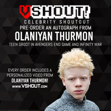 Load image into Gallery viewer, Olaniyan Thurmon Official vShout! Autograph Pre-Order