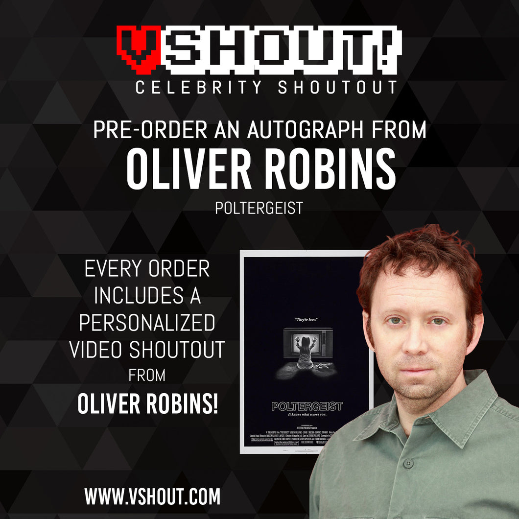 Closed Oliver Robins Official vShout! Autograph Pre-Order
