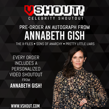 Load image into Gallery viewer, CLOSED Annabeth Gish Official Zobie vShout! Autograph Pre-Order