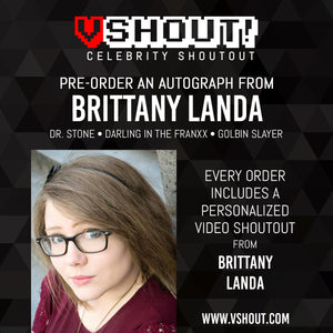 Brittany Lauda Official vShout! Autograph Pre-Order