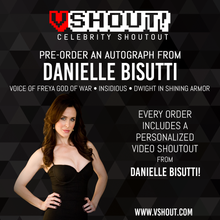 Load image into Gallery viewer, Danielle Bisutti Official Zobie vShout! Autograph Pre-Order