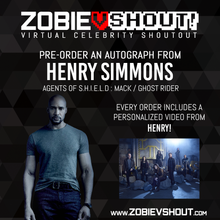 Load image into Gallery viewer, Henry Simmons Official vShout! Autograph Pre-Order