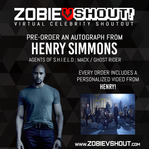 Henry Simmons Official vShout! Autograph Pre-Order