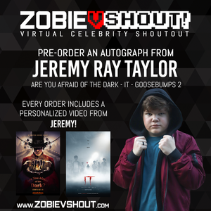 CLOSED Jeremy Ray Taylor Official vShout! Autograph Pre-Order