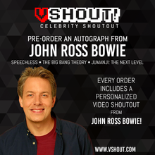 Load image into Gallery viewer, CLOSED John Ross Bowie Official Zobie vShout! Autograph Pre-Order