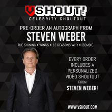 Load image into Gallery viewer, Closed Steven Weber Official Zobie vShout! Autograph Pre-Order