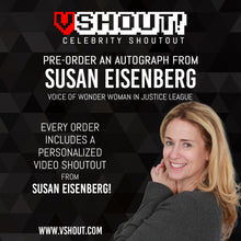 Load image into Gallery viewer, Closed Susan Eisenberg Official Zobie vShout! Autograph Pre-Order