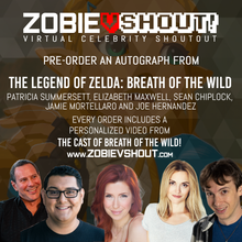 Load image into Gallery viewer, The Legend of Zelda: Breath of the Wild Cast Official vShout! Autograph Pre-Order
