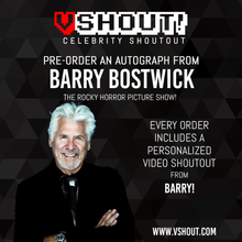 Load image into Gallery viewer, CLOSED Barry Bostwick Official vShout! Autograph Pre-Order
