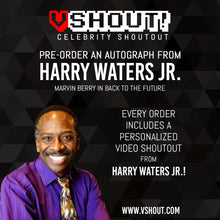 Load image into Gallery viewer, Closed Harry Waters Jr. Official vSHOUT! Autograph Pre-Order
