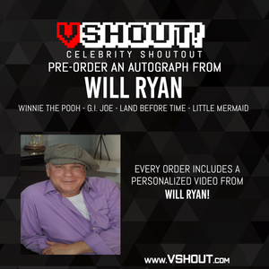 Closed Will Ryan Official Zobie vShout! Autograph Pre-Order