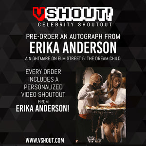 Closed Erika Anderson Official vShout! Autograph Pre-Order