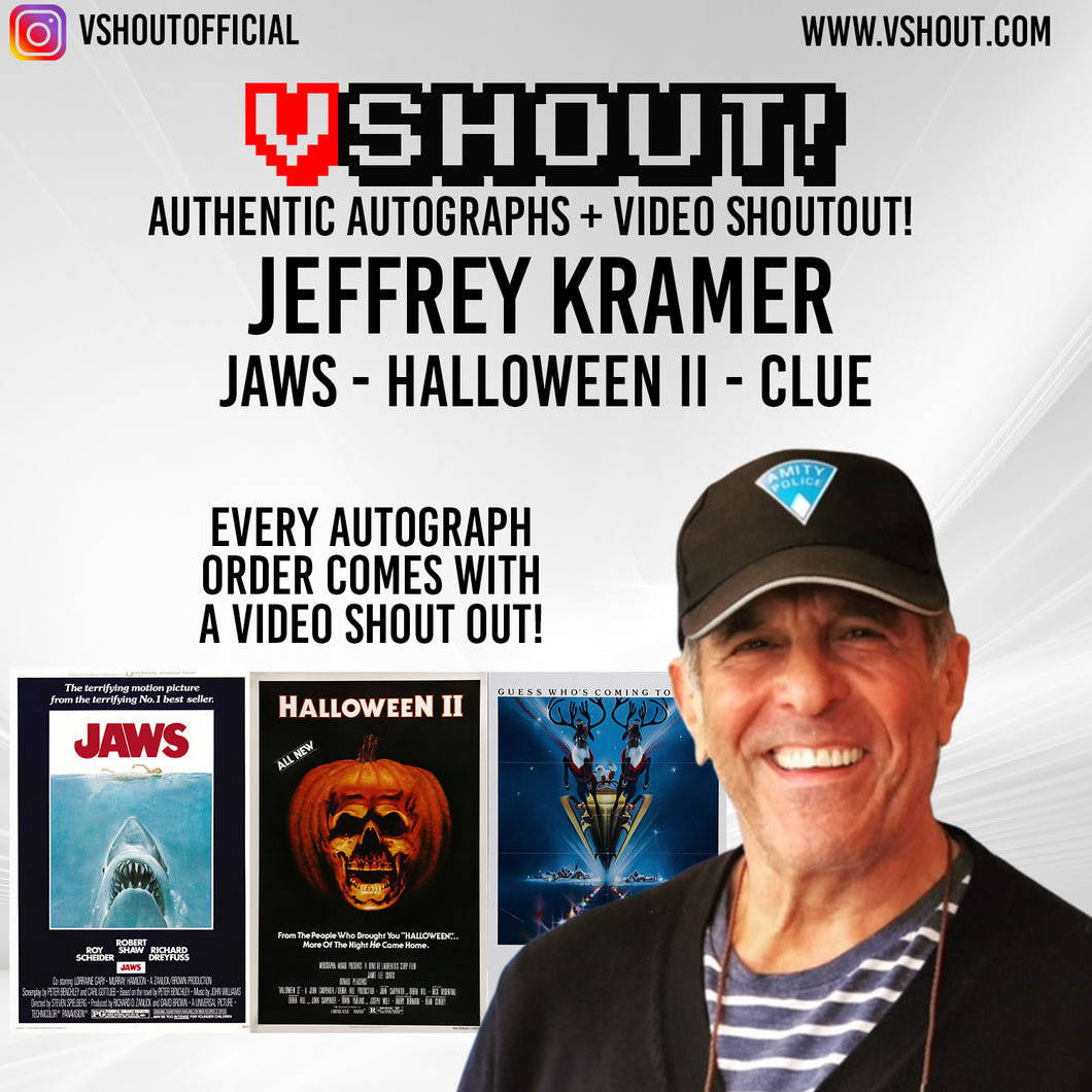 CLOSED Jeffrey Kramer Official vShout! Autograph Pre-Order