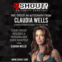 Load image into Gallery viewer, Claudia Wells Official vShout! Autograph Pre-Order