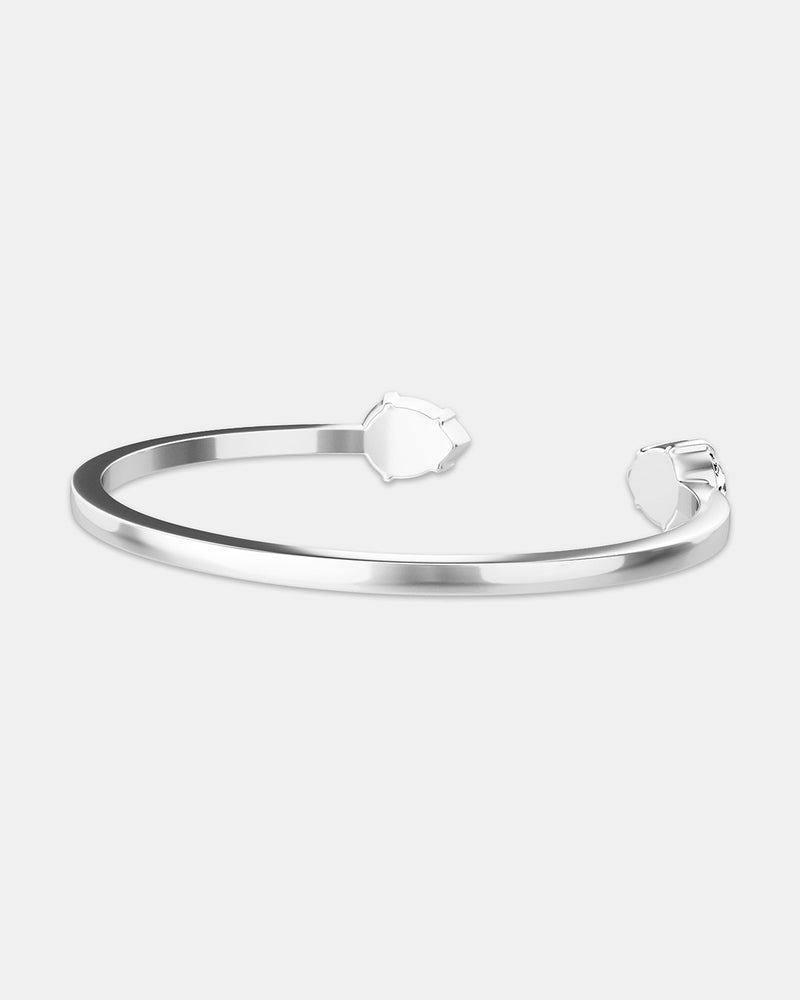 Crystal Bangle Polished - Waldor & Co.