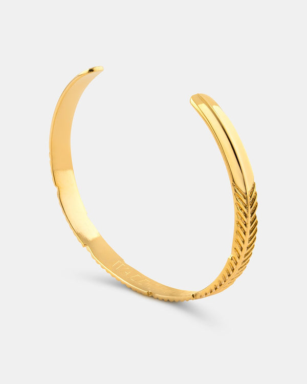 Feather Bangle Polished - Waldor & Co.