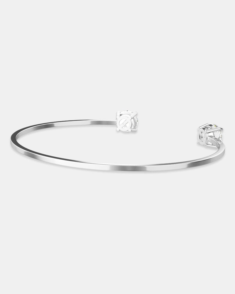 Zircon Bangle Polished - Waldor & Co.