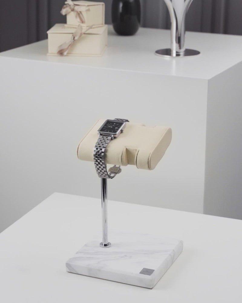 Watch & Bracelet Stand Marble Silver