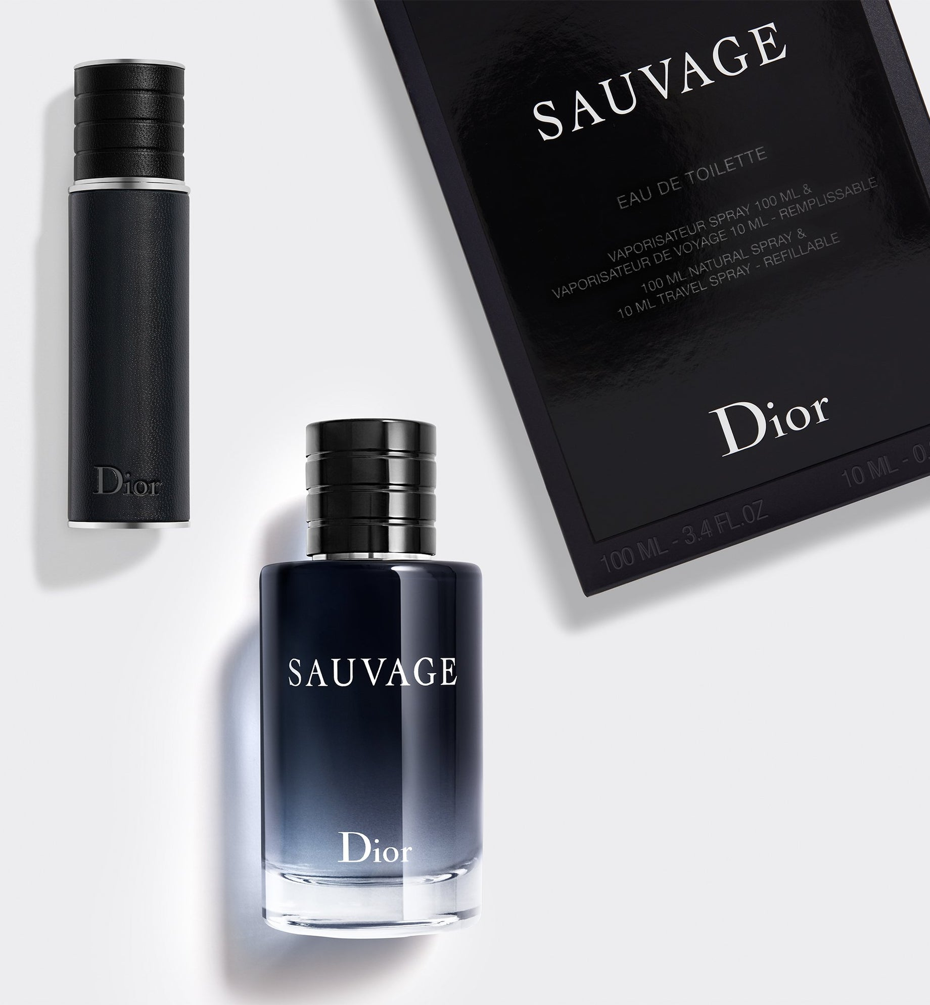 SAUVAGE EAU DE TOILETTE 100ml OFFER: The iconic fragrance with a complimentary travel spray