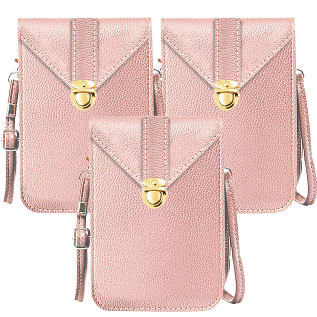 Fancy Touchscreen Waterproof Leather Crossbody 3 Bags