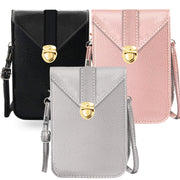 Fancy Touch Screen Waterproof Leather Crossbody Universal Phone Bag