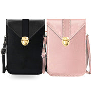 Fancy Touchscreen Waterproof Leather Crossbody 2 Bags