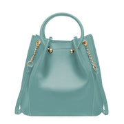 Fancy Royal Saffiano Handbag