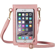 Fancy Touchscreen Waterproof Leather Crossbody Universal Phone Bag