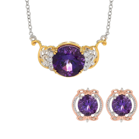 Suite Deal by Michael Ametista do Sul Amethyst Set of Necklace and Earrings