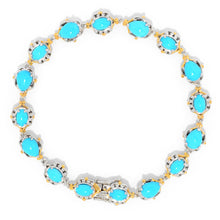 Load image into Gallery viewer, Gems en Vogue Multi Shape Sleeping Beauty Turquoise Line Bracelet