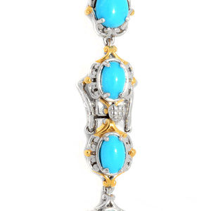 Gems en Vogue Multi Shape Sleeping Beauty Turquoise Line Bracelet