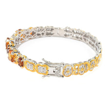 Load image into Gallery viewer, Gems en Vogue 6.49ctw Choice of Size Ametista Madeira Citrine Bangle Bracelet