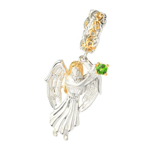 Gems en Vogue Gemstone Sculpted Angel Drop Charm