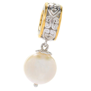 Gems en Vogue 8.463ctw Freshwater Cultured Pearl Drop Charm