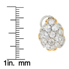 Load image into Gallery viewer, Gems en Vogue 3.97ctw Multi Shape White Zircon Cluster Stud Earrings