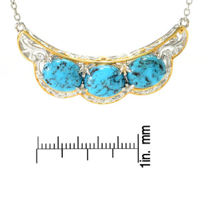 Gems en Vogue Spiderweb Turquoise Necklace