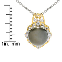 Load image into Gallery viewer, Gems en Vogue Tahitian Pearl & White Zircon Pendant