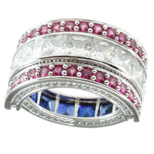Load image into Gallery viewer, Signity Sterling Silver Cubic Zirconia Multi-stone Flip Ring