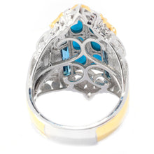 Load image into Gallery viewer, Gems en Vogue Sleeping Beauty Turquoise & London Blue Topaz Elongated Ring