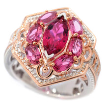 Load image into Gallery viewer, Gems en Vogue 2.35ctw Multi Shape Pink Tourmaline Hexagon Ring