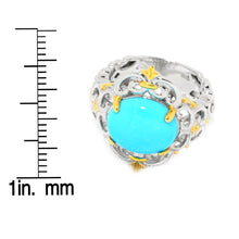 Load image into Gallery viewer, Gems en Vogue Oval Kingman Turquoise Scrollwork Ring