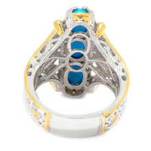 Load image into Gallery viewer, Gems en Vogue Sleeping Beauty Turquoise Three-Stone Elongated Ring
