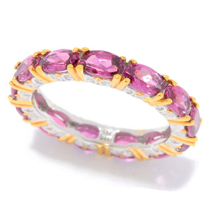 Gems en Vogue 2.47ctw Color Change Purple Garnet Band Eternity Ring