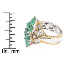 Load image into Gallery viewer, Gems en Vogue 1.97ctw Belmont Emerald Marquise Shaped Cluster Ring