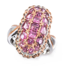 Load image into Gallery viewer, Gems en Vogue 2.33ctw Pink Tourmaline Elongated Cluster Ring