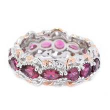 Load image into Gallery viewer, Gems en Vogue 1.83ctw Multi Cut Pink Tourmaline Eternity Band Ring